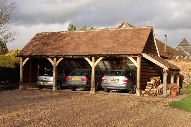 Andrew page oak for Three bay garage